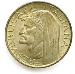 500 Lire di argento Dante Alighieri 1965 Italia إيطاليا