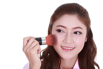 Beauty woman with Makeup Brush