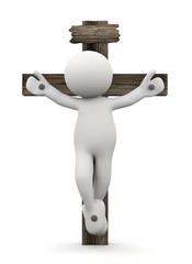 omino bianco in croce
