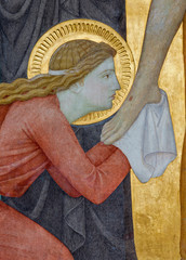 Vienna -  Mary Magdalen and feet of Jesus