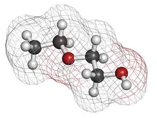 2-ethoxyethanol solvent molecule.