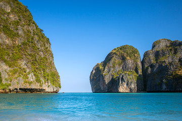 Maya Bay at Koh Phi Phi Leh island, Krabi, Thailand