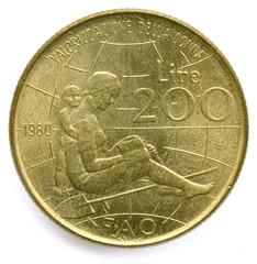 200 Lire Maria Montessori 1980 Lira Italia ᐃᑕᓖ 意大利 އިޓަލީވިލާތް