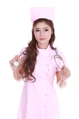 female nurse with stethoscope