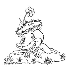 Mole In A Hole Coloring Page