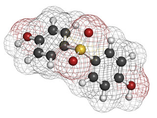Bisphenol S (BPS) plasticizer molecule.