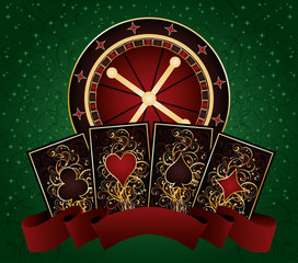 Casino poker background, vector illustration
