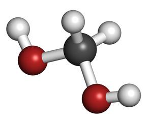 Methylene glycol (methanediol, formaldehyde monohydrate) molecul