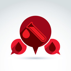 Donor blood and Circulatory system icon, vector conceptual styli