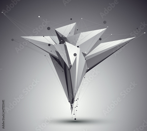 3D mesh modern style abstract background, origami futuristic tem