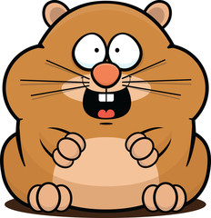 Cartoon Hamster Happy