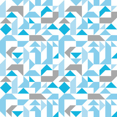 Pastel seamless pattern with geometric figures, infinite neutral