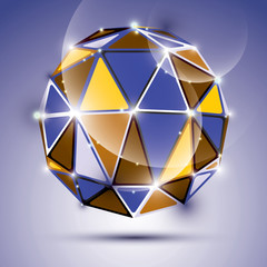 Vector stylish illustration, shiny jewel effect, eps10. Gala 3D