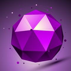Purple 3D modern stylish abstract background, origami futuristic