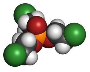 TCEP [tris(2-chloroethyl) phosphate] molecule.