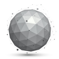 Modern digital technology ball, abstract unusual background, vec