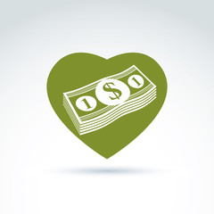 Love money success, greed, crediting and depositing, wealth and