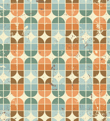 Vintage bright geometric seamless pattern, elliptic abstract bac