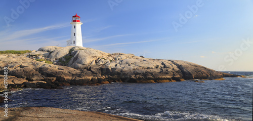 Foto op Aluminium Canada Peggy Cove Lighthouse, Nova Scotia, Canada