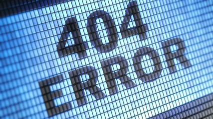 """404 error"" on screen. Looping."