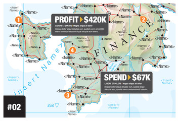 Map Infographic Finance