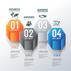 Modern design for 3D business infographic