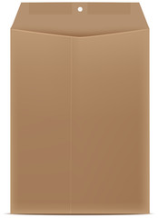 Open brown envelope paper