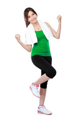 woman fitness streching