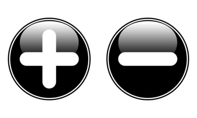 The plus and minus buttons