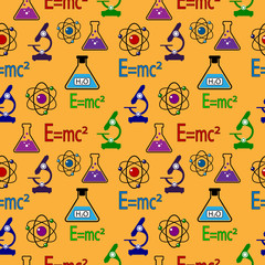 Science seamless pattern.