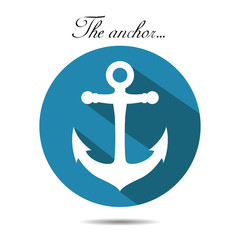 The anchor on the white background. vector