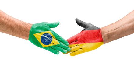 Handshake Brasilien und Deutschland