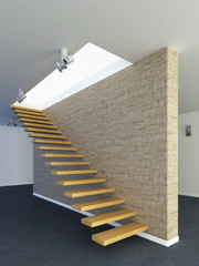 Modern stairs from wood
