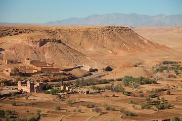 Neighborhood of Ait-Ben-Haddou, Morocco
