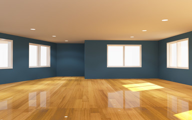 Interior blue room