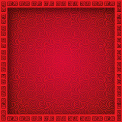 Oriental Chinese seamless pattern background with frame