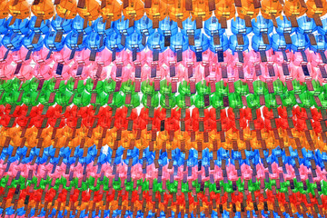 colorful paper lanterns at Jogyesa temple in Korea