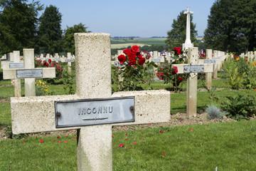 Mémorial franco-britannique de Thiepval, tombe française (Somm