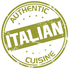 authentic italian cuisine stamp