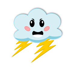 Icona meteo: nuvola con fulmini