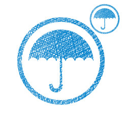 Umbrella vector simple single color icon isolated on white backg