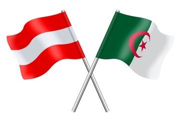 Fahnen: Österreich und Algerien