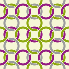 Vector decorative geometric seamless pattern with circles.