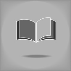 Creative design of open book. Fully editable vector.