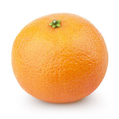 Single Mandarin Orange (Tangerine) - citrus fruit on white