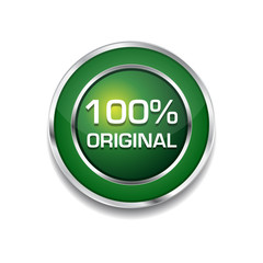 100 Percent Original Glossy Shiny Circular Vector Button