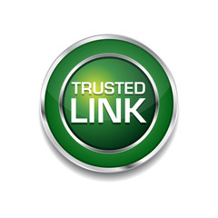 Trusted Link Glossy Shiny Circular Vector Button