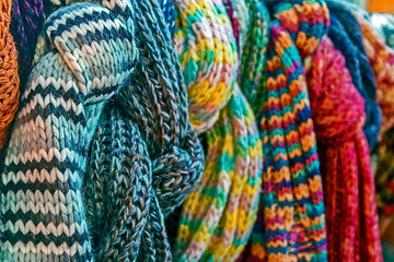 Multicolored wool Neckwear