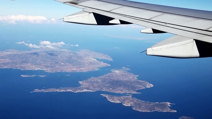 View of the Aegean islands of the plane, Greece