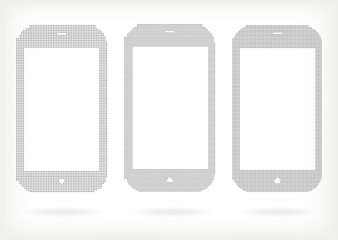 Vector halftone Phones